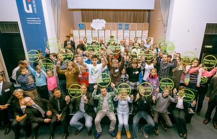 """DEU,HH,27.11.2013, Wiederverleihung """"Gütesiegel Klimaschule"""" im LI . Vielen Dank für die Fotos von: www.scholzfoto.de"""